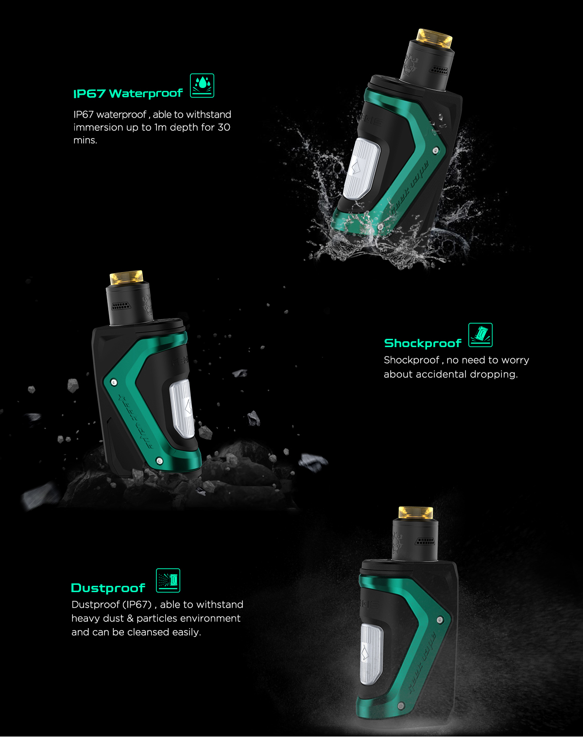 E Cig Brands :: Geekvape :: Original 100W GeekVape Aegis Squonker Kits with Tengu  RDA free shipping - Buy your electronic cigarette kits and accessories at  Buyecigkits.com